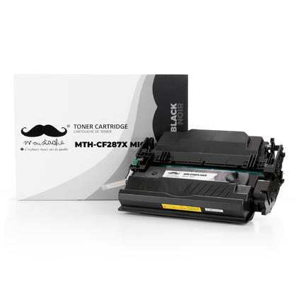 Compatible HP 87X CF287X MICR Black Toner Cartridge - Moustache Brand