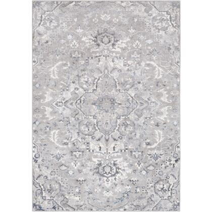 Katmandu KAT-2317 67 x 96 Rectangle Traditional Rug in Medium Gray  Charcoal  Denim  Ivory  Light