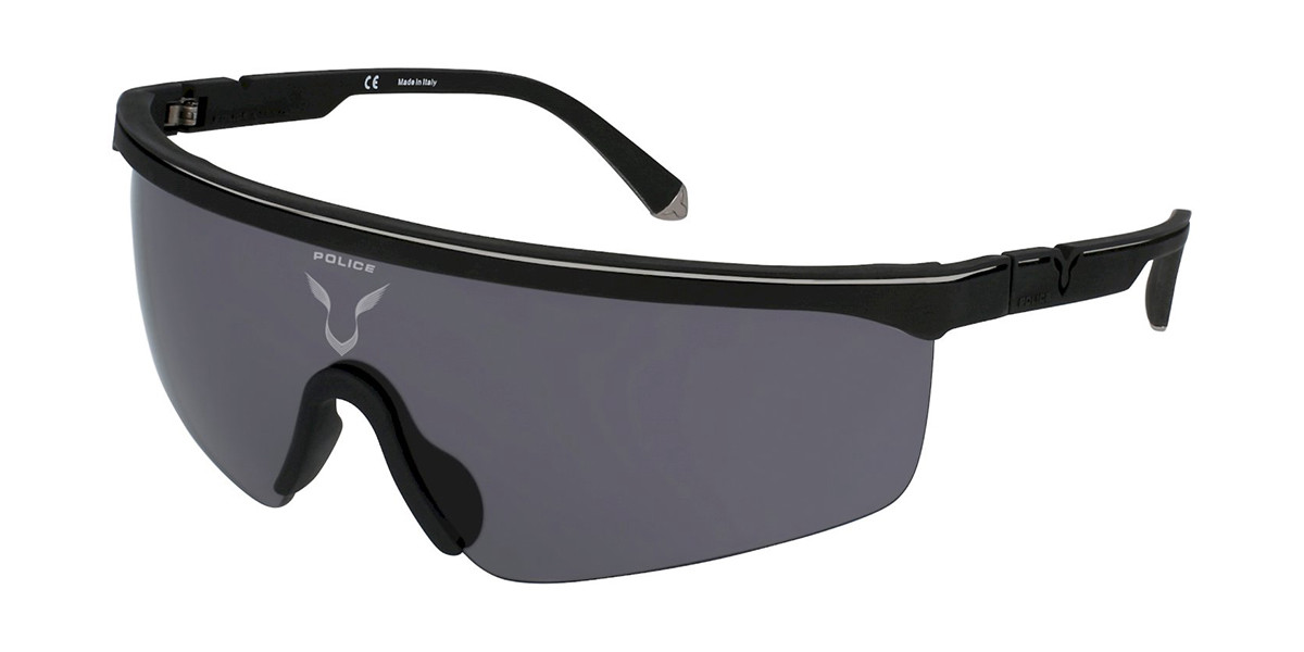 Police SPLA28 LEWIS 07 06AA Men's Sunglasses Black Size 99