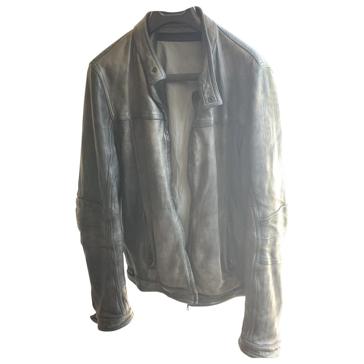 Drome \N Grey Leather jacket  for Men XL International