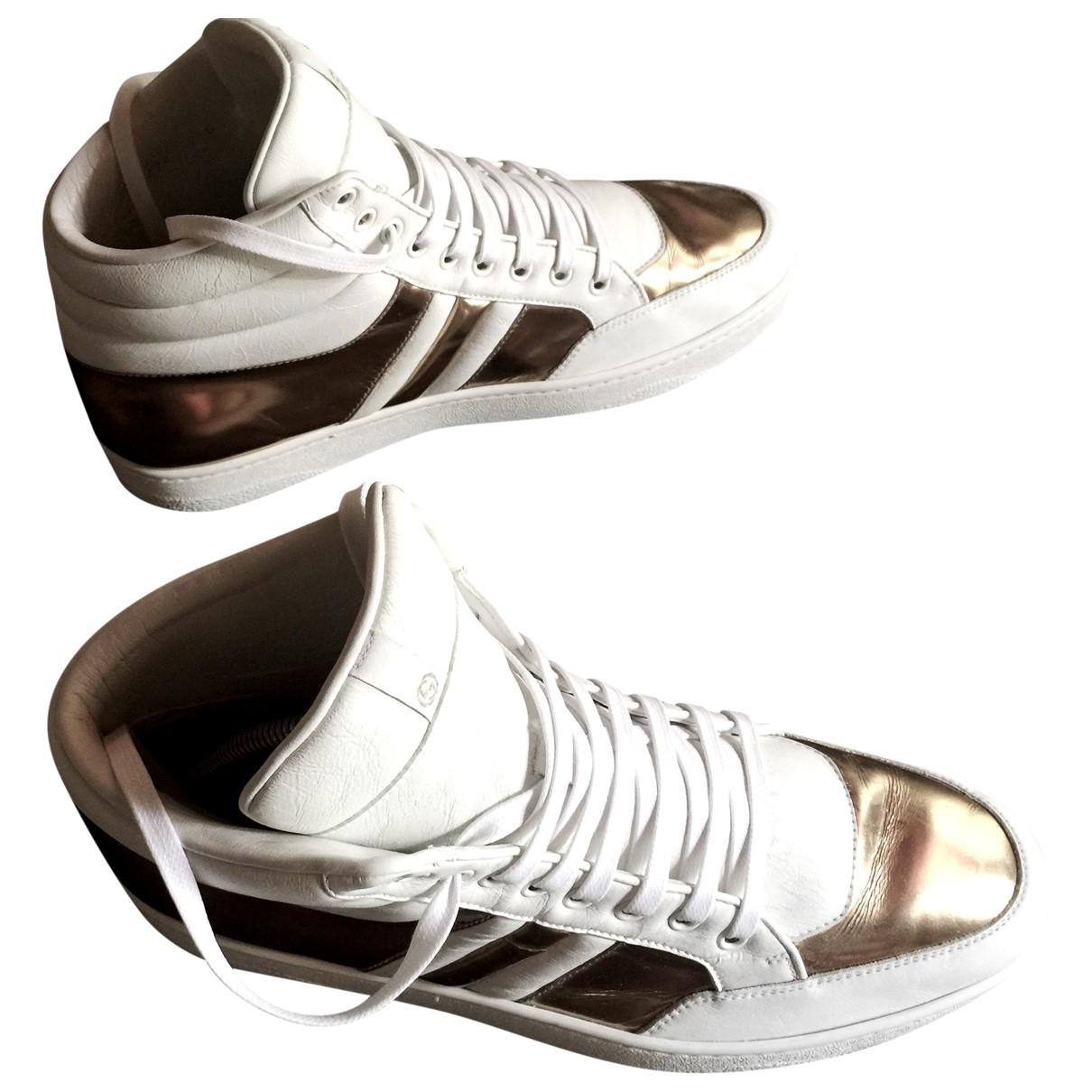 Gucci - Baskets   pour homme en cuir - blanc