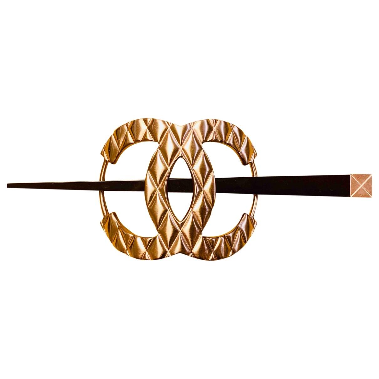 Chanel - Bijoux de tete CC pour femme en metal - dore