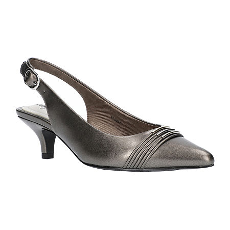 Easy Street Womens Maeve Pumps Kitten Heel, 6 1/2 Medium, Gray