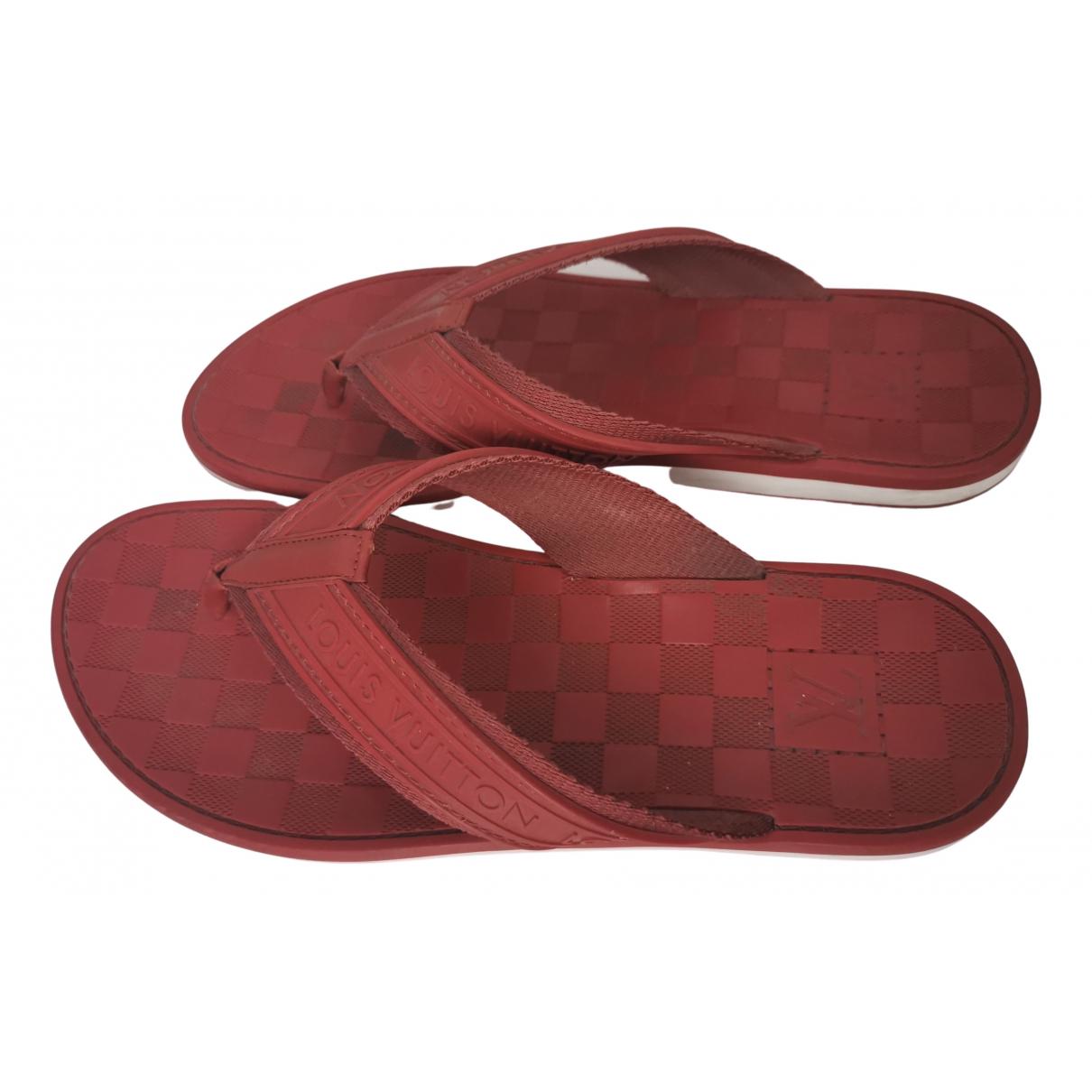 Louis Vuitton - Sandales   pour homme en cuir - rouge