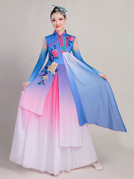 Milanoo Women Chinese Costumes Asian Dance Dress Holidays Carnival Costumes