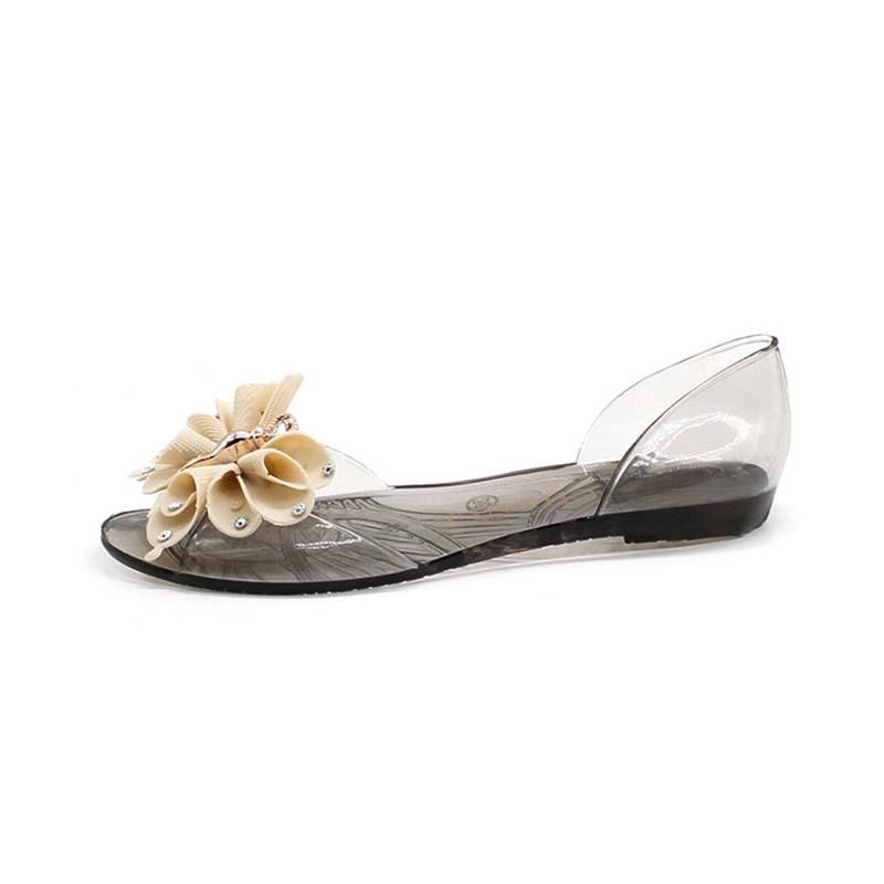 Ericdress Bowtie Slip-On Peep Toe Women's Jelly Shoes
