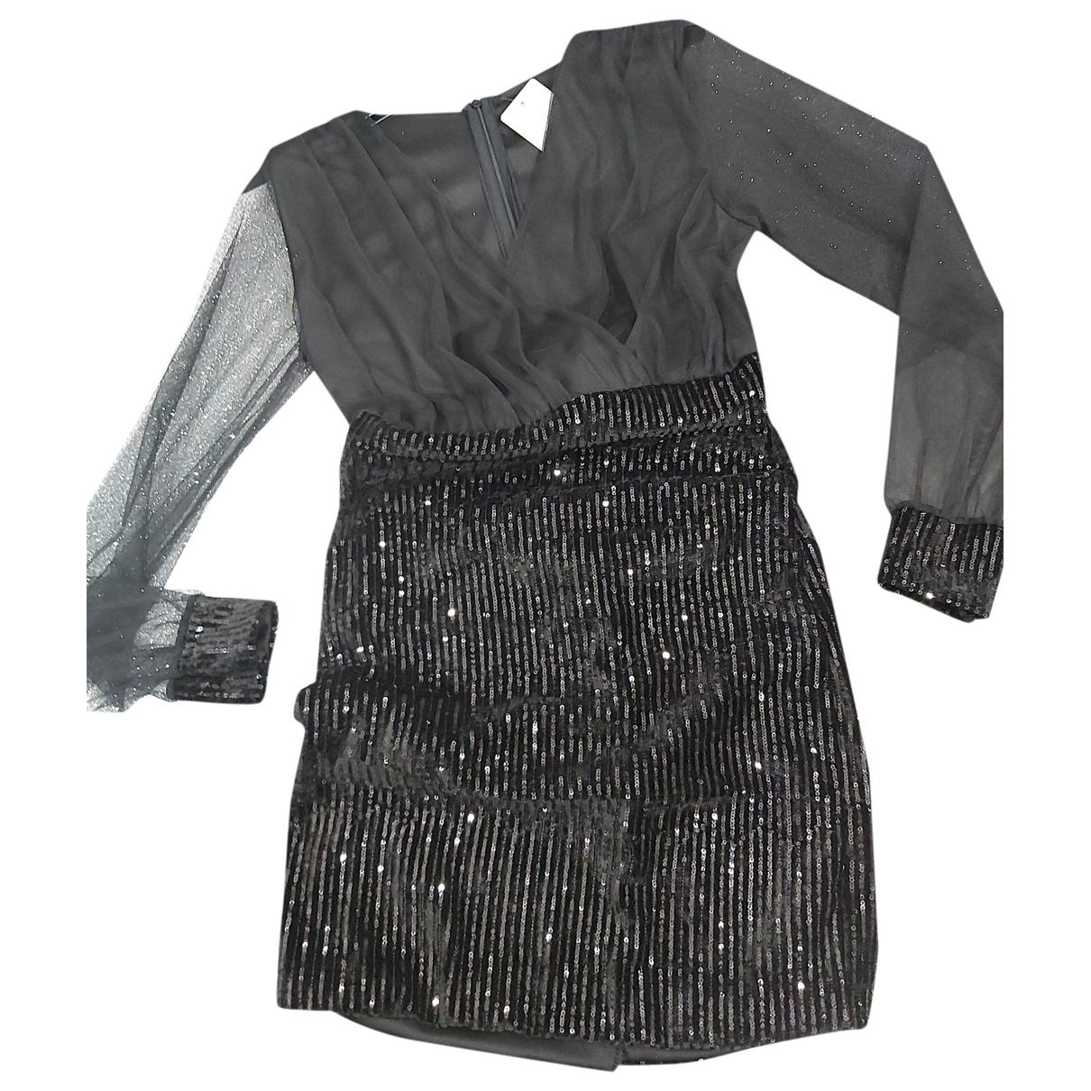 - Robe   pour femme en a paillettes - noir