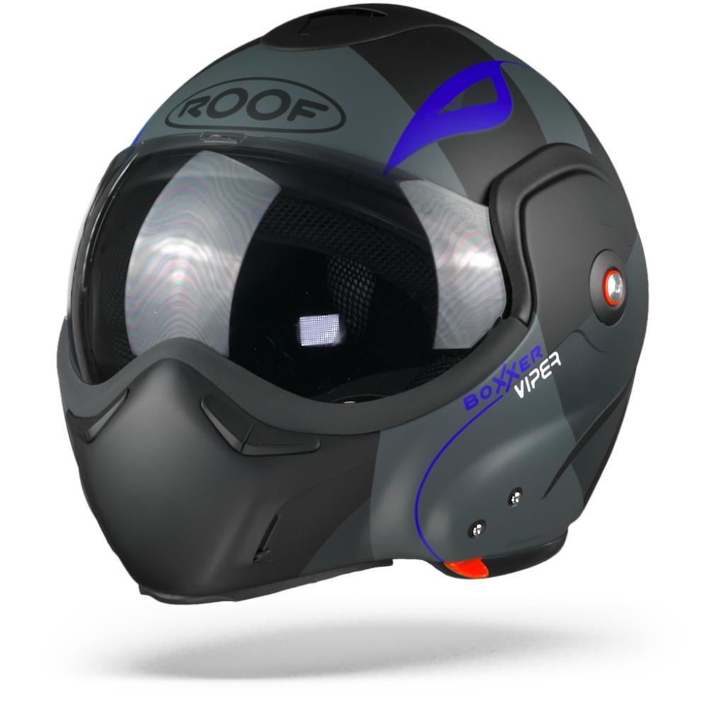 ROOF BoXXer Viper Klapphelm Fluor Blau  XL