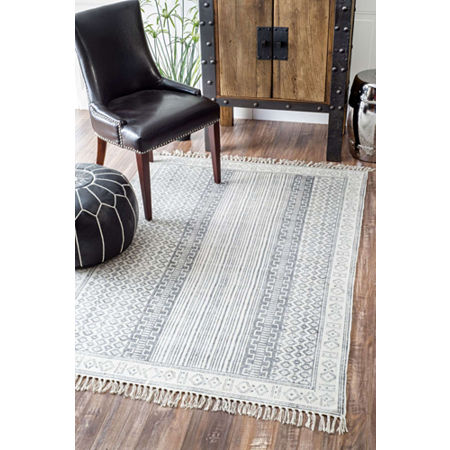 nuLoom Hand Made Kameron Rug, One Size , Gray