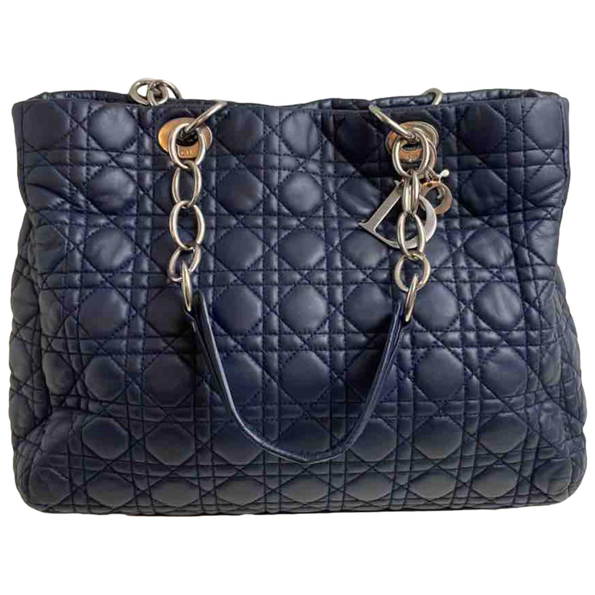 Dior - Sac a main Dior Soft Shopping pour femme en cuir - bleu