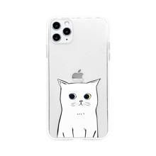 1 Stueck Transparente iPhone Huelle mit Katze Muster