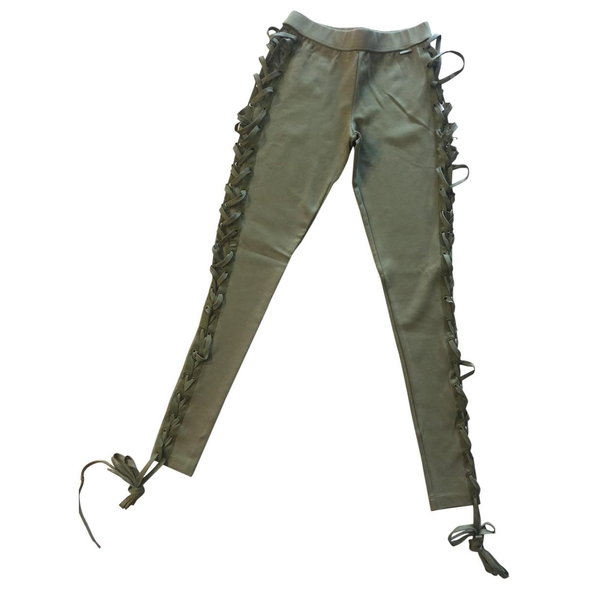 Fenty X Puma \N Green Cotton Trousers for Women 8 UK