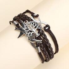 Men Bird & Infinity Decor Bracelet