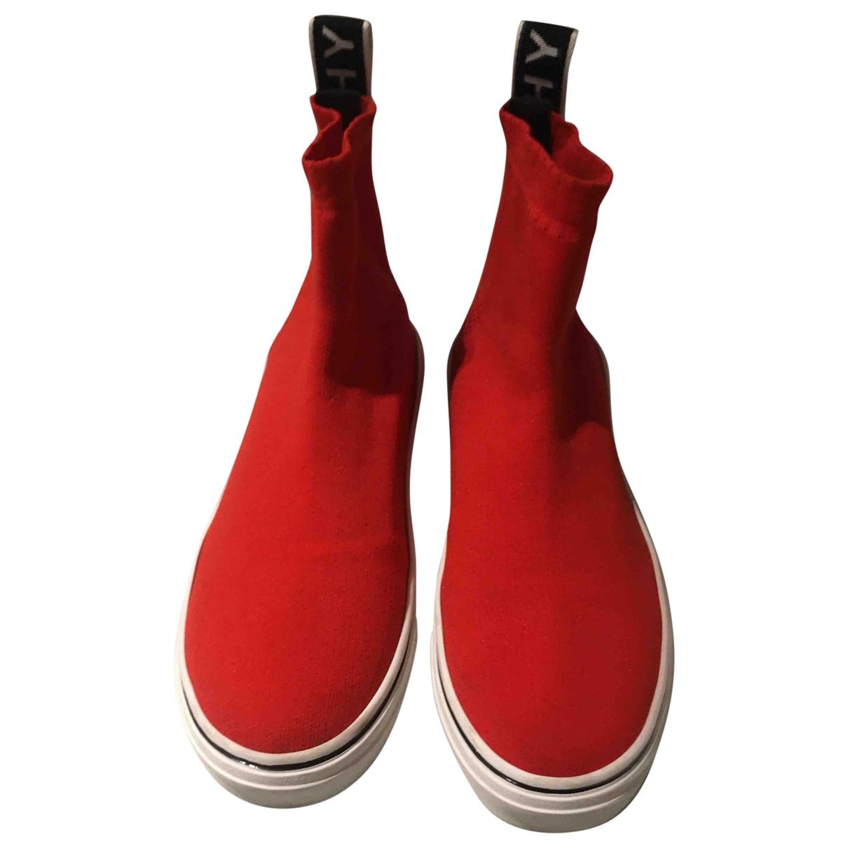 Givenchy - Baskets   pour femme en toile - rouge