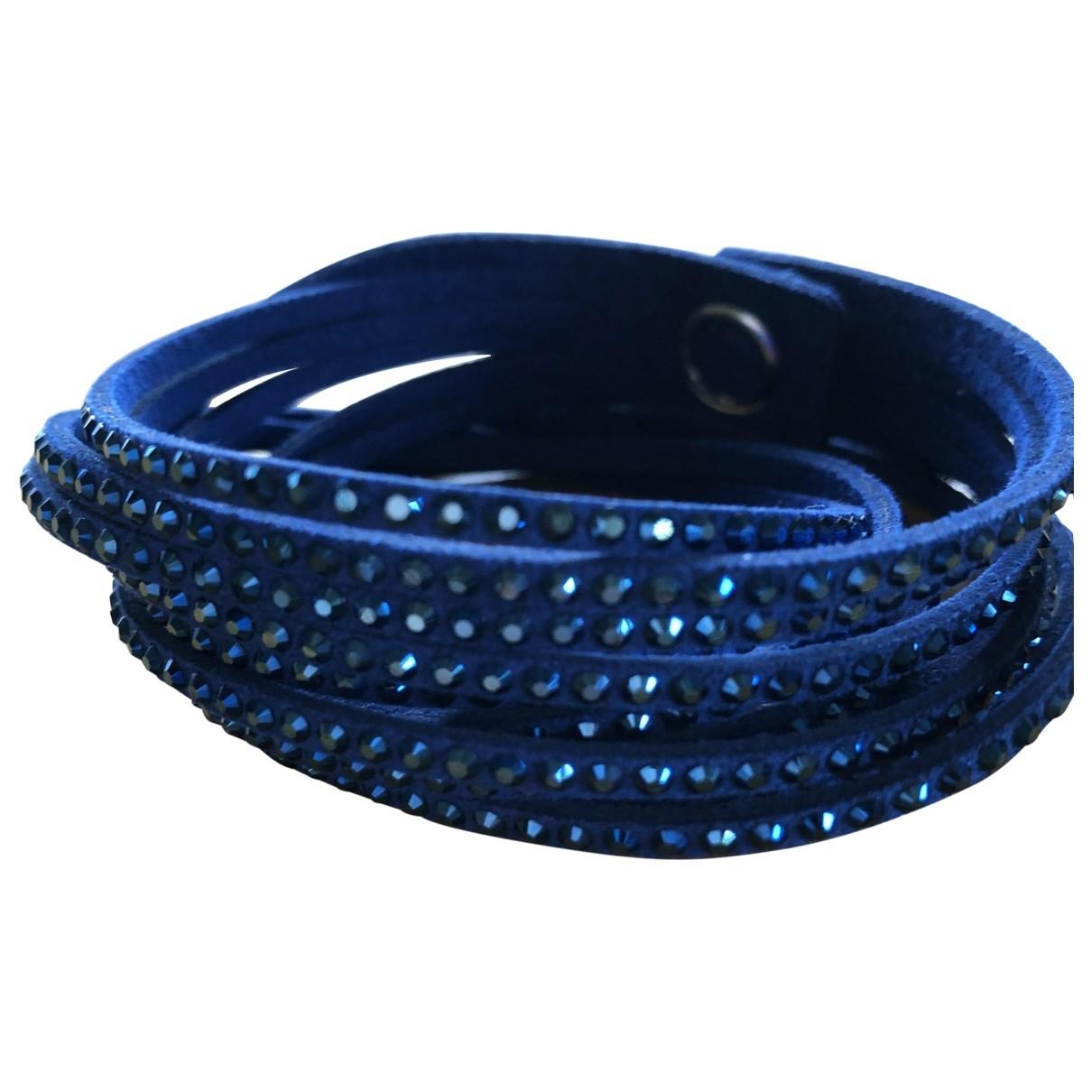 Swarovski - Bracelet Slake pour femme en cuir - bleu