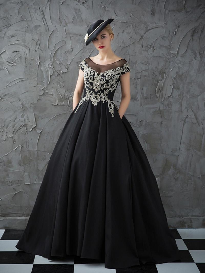Ericdress Vinatage Cap Sleeves Beading Crystal Ball Quinceanera Dress