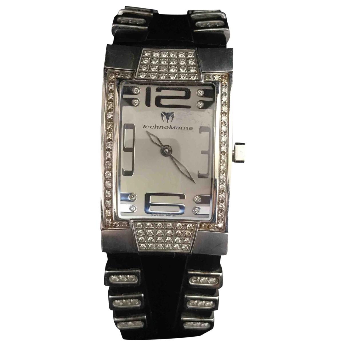Technomarine, Genève \N Silver Steel watch for Women \N