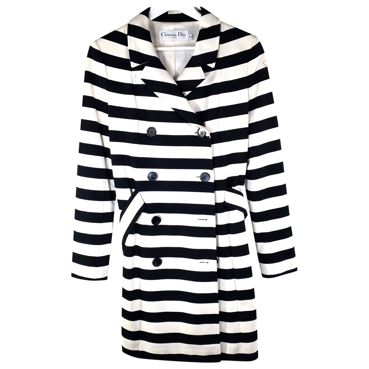 Dior - Manteau   pour femme en coton - blanc