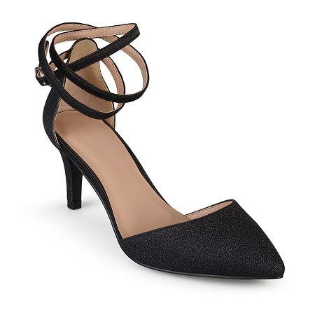 Journee Collection Womens Luela Pumps Stiletto Heel, 12 Medium, Black