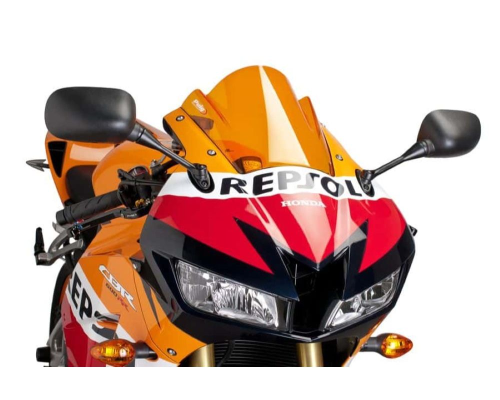 Puig 6478T Z-Racing Windscreen - Orange Honda CBR600RR 2013
