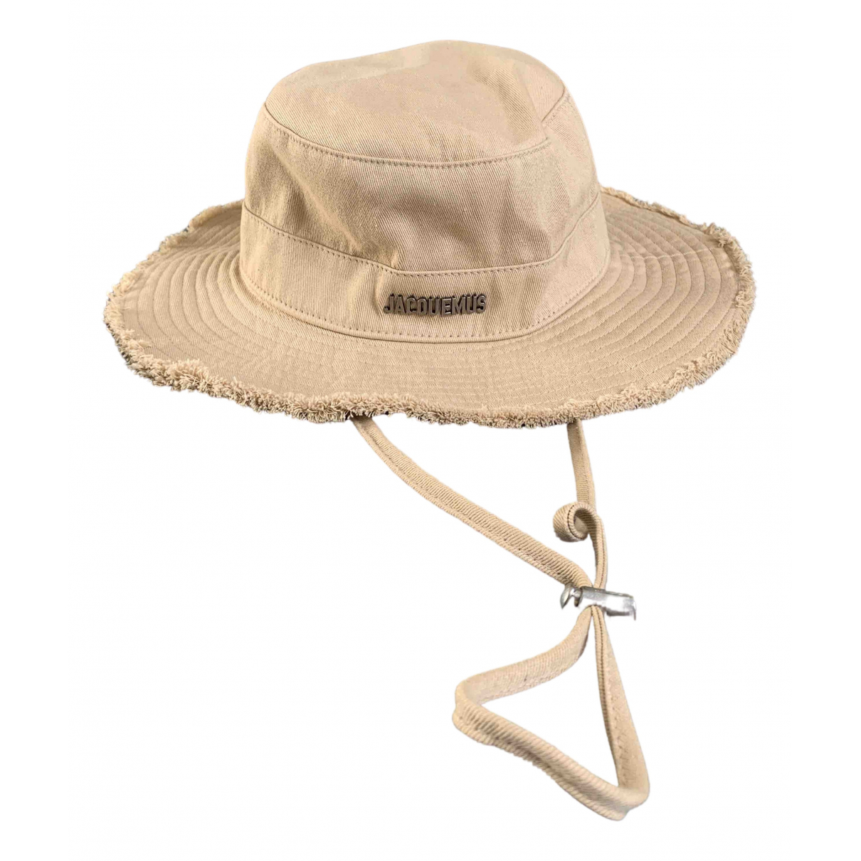 Jacquemus - Chapeau Le coup de soleil pour femme en coton - beige