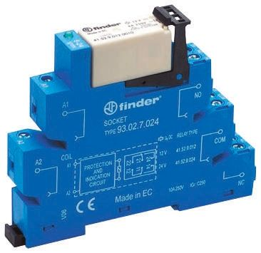 Finder , 12V ac/dc DPDT Interface Relay Module, Screw Terminal , DIN Rail