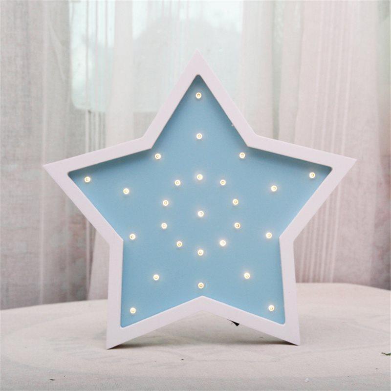 Star Children's Room LED Wood Lights Eco-friendly Decorative Light