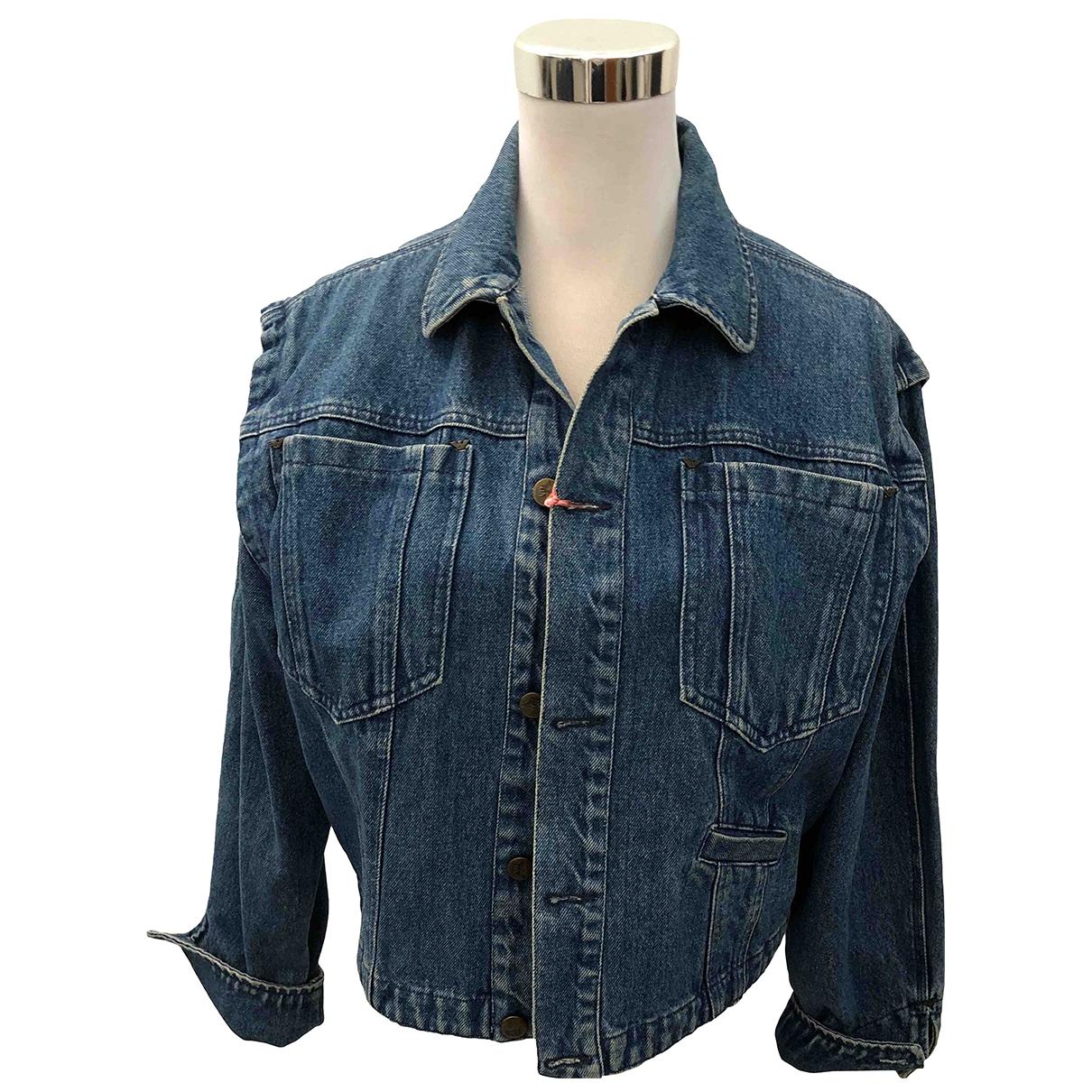 Giorgio Armani \N Jacke in  Blau Denim - Jeans