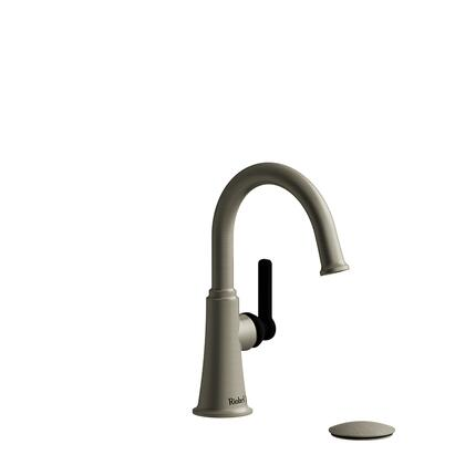 Momenti MMRDS01JBNBK-05 Single Hole Lavatory Faucet with J Lever Handle 0.5 GPM  in Brushed