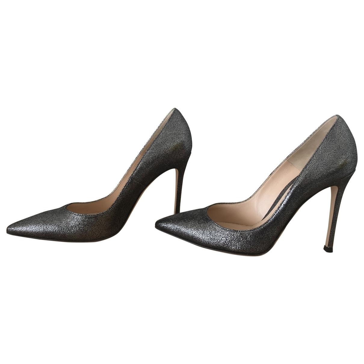 Gianvito Rossi Gianvito Anthracite Glitter Heels for Women 37.5 EU