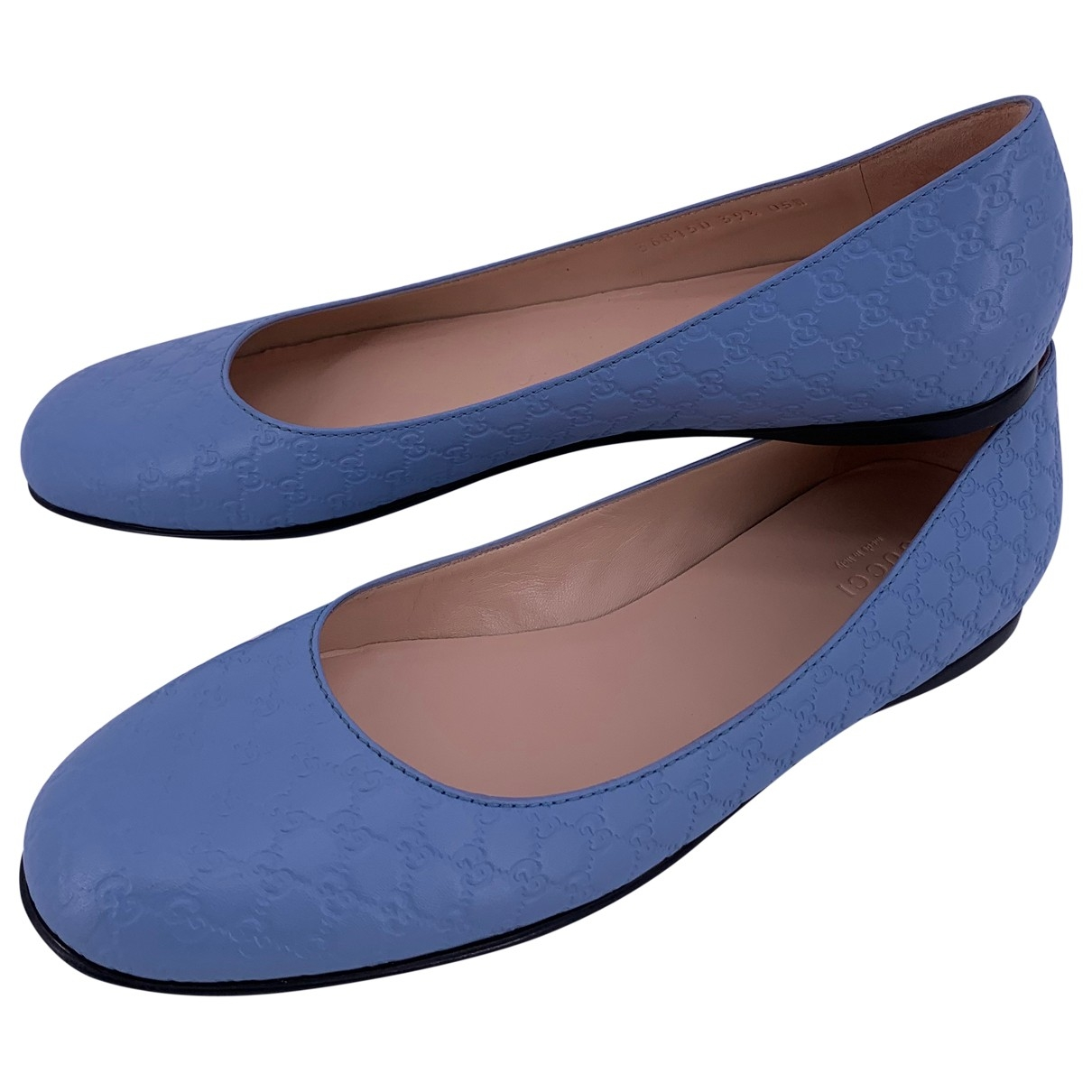 Gucci \N Blue Leather Ballet flats for Women 39.5 EU