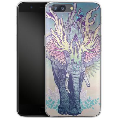 OnePlus 5 Silikon Handyhuelle - Spirit Elephant von Mat Miller