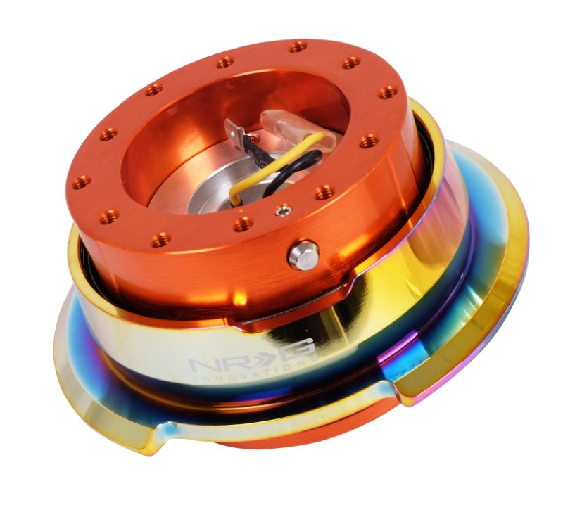 NRG SRK-280OR-MC Quick Release Gen 2.8 Orange Body Neo Chrome Ring