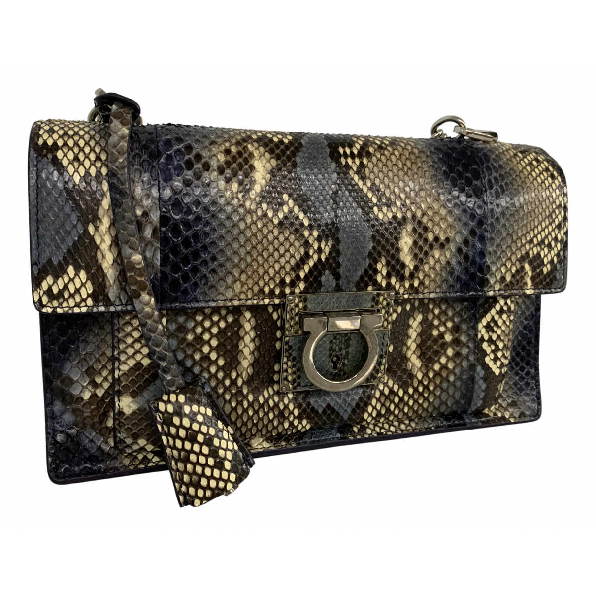 Salvatore Ferragamo N Blue Python handbag for Women N