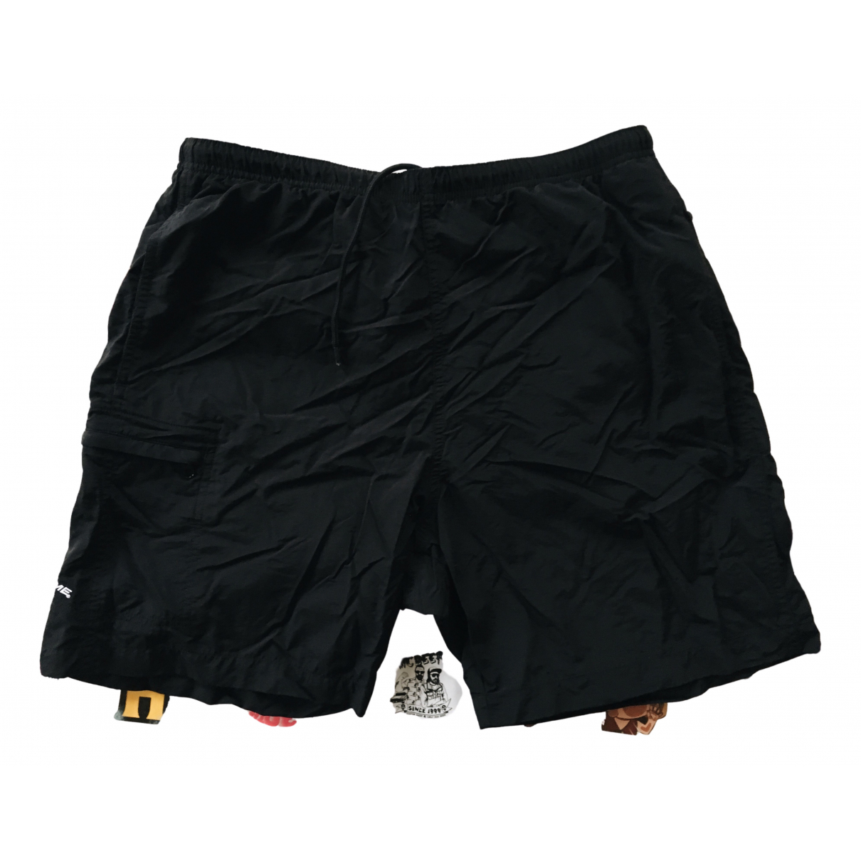 Supreme \N Shorts in  Schwarz Synthetik