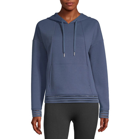 Xersion Womens Hooded Neck Long Sleeve Hoodie, Petite X-large , Blue