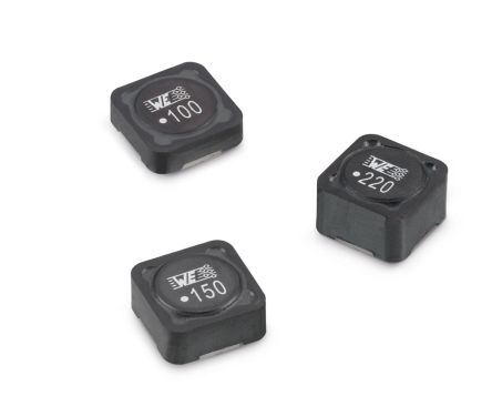 Wurth Elektronik WE-PD, SMT Shielded Wire-wound SMD Inductor with a MnZn Core, 220 μH ±20% Shielded 630mA Idc (1000)