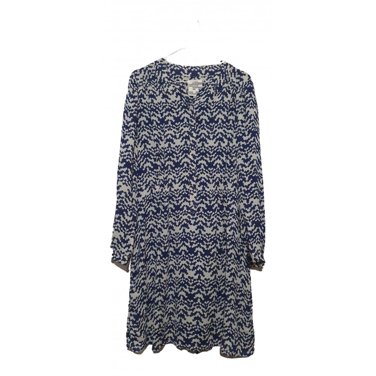 Baum Und Pferdgarten - Robe   pour femme en soie - bleu