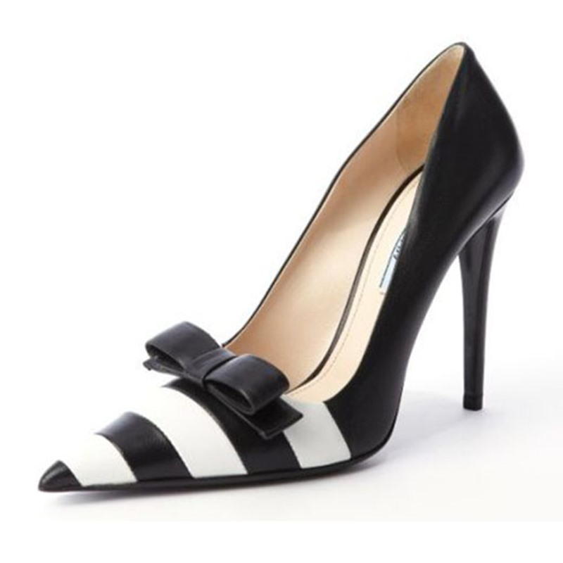 Ericdress Slip-On Pointed Toe Bow Women's Pumps