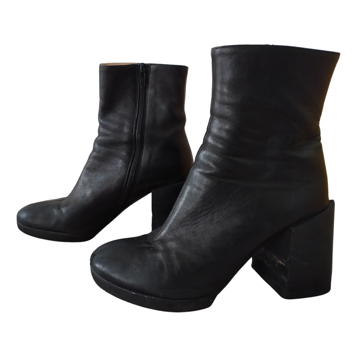 Acne Studios N Black Leather Ankle boots for Women 35 EU