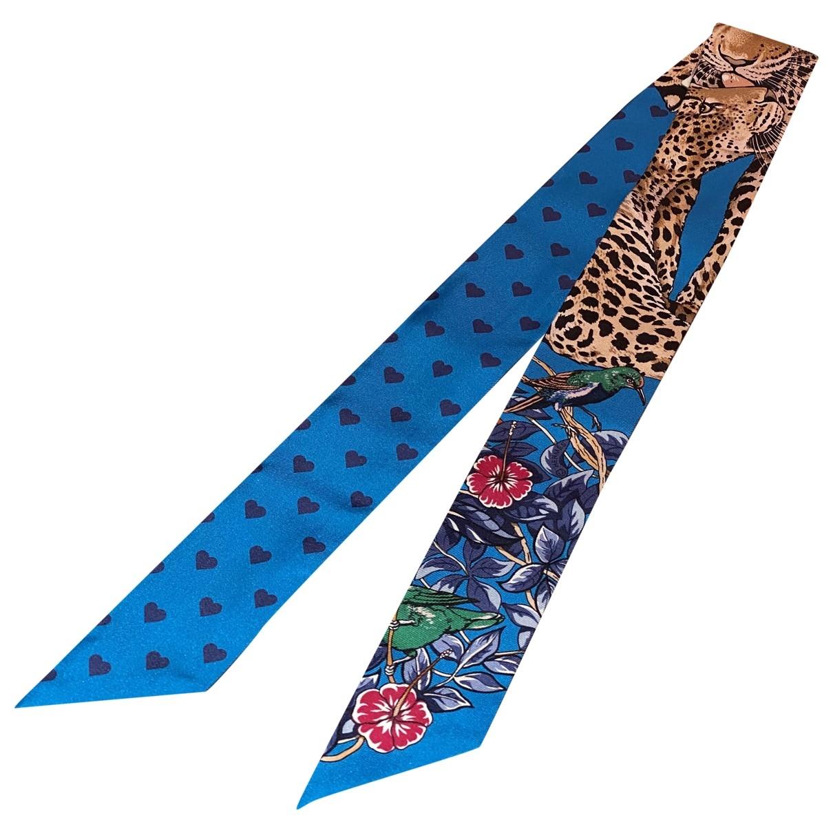 Hermès Twilly 86 Blue Silk scarf for Women \N