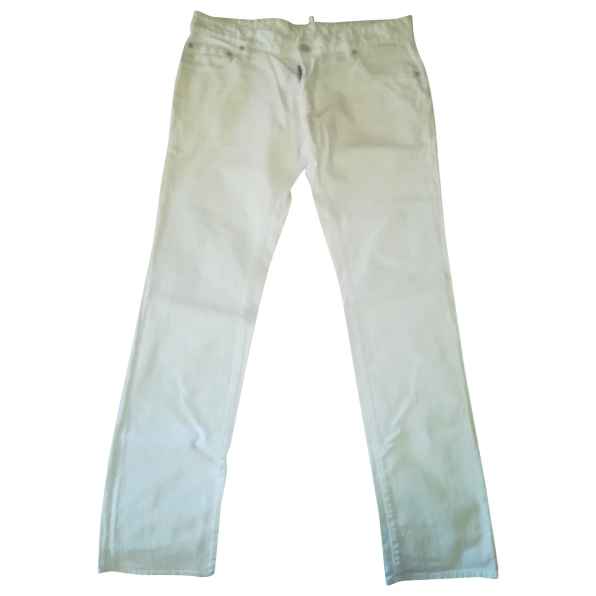 Dsquared2 \N White Cotton - elasthane Jeans for Men 36 US