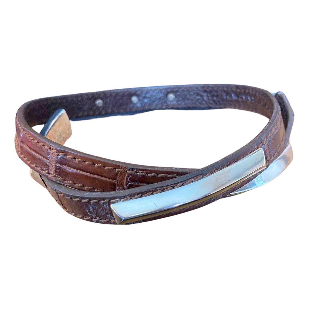 Tods - Bracelet   pour femme en alligator - marron