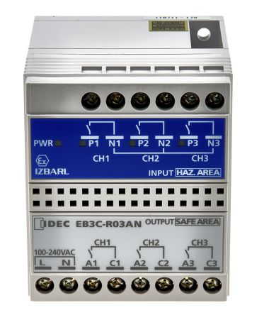 Idec 3 Channel Isolation Barrier With Analogue Output, 250 V ac max, 14.2mA max