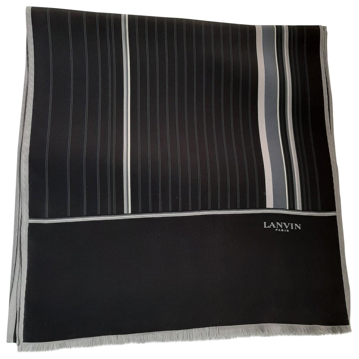 Lanvin \N Black Silk scarf for Women \N