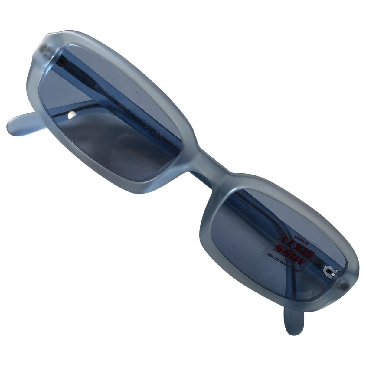 Moschino \N Sonnenbrillen in  Blau Kunststoff