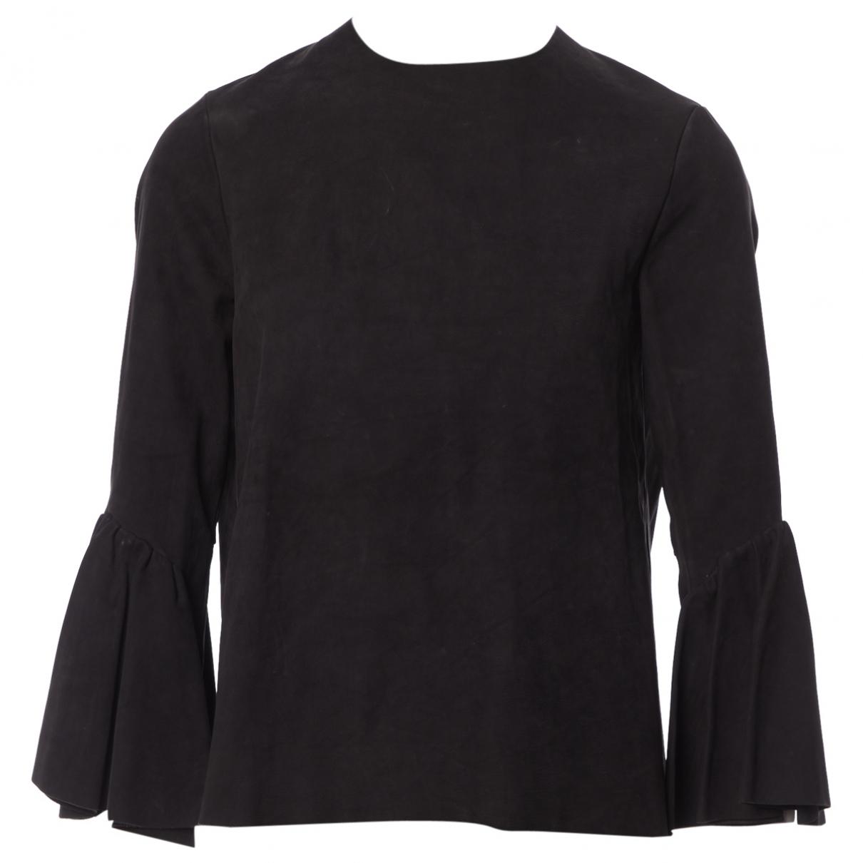 Acne Studios - Top   pour femme en cuir - noir