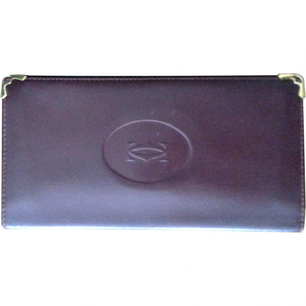 Cartier - Portefeuille   pour femme en cuir - rouge