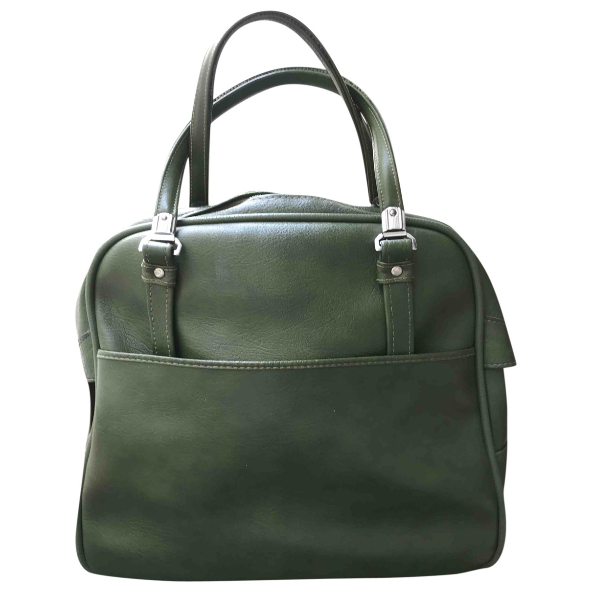 Non Signé / Unsigned \N Green Leather Travel bag for Women \N