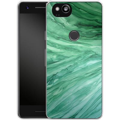 Google Pixel 2 Silikon Handyhuelle - Emerald von Becky Starsmore